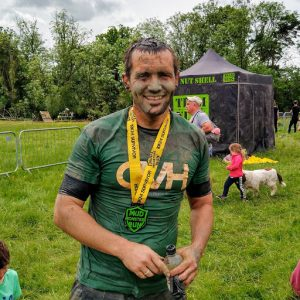 Our charity ambassador Jack gets muddy for QVH
