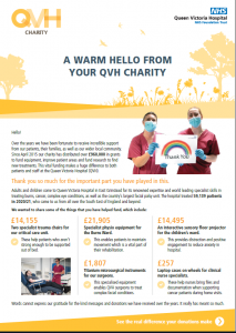 A Warm Hello From Your QVH Charity